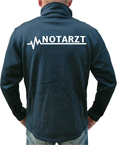 FEUER1 SmartSoftshelljacke Navy, Notarzt XL