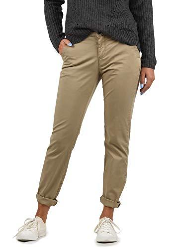BlendShe Chilli Pantalón Chino Pantalón De Tela para Mujer Regular- Fit, tamaño:S, Color:Silver Mink Washed (20255)