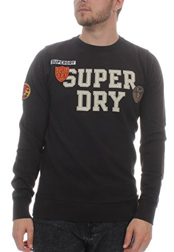Superdry trui heren Upstate WASH Crew Sweat Vintage Black