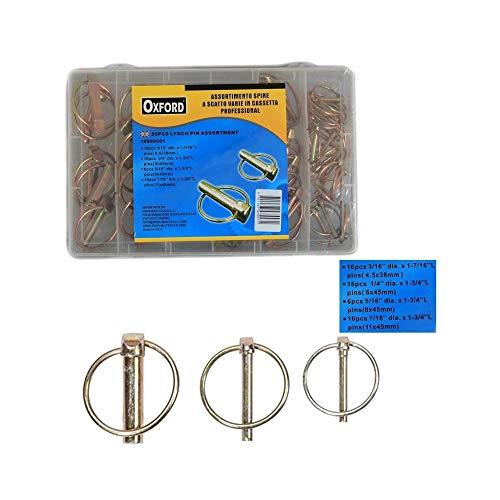 TradeShopTraesio_OX Kit Set ASSORTIMENTO 50 Spine COPPIGLIE A Scatto Fermi COPPIGLIE PERNI SPINOTTI