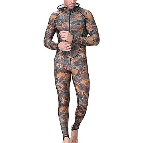 EMEIJIA mannen wetsuit een stuk duiken pak zon -camouflage badpak snel drogen man gewatteerde wetsuit voor snorkelen