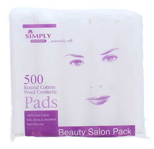 Simply Cotton Lot de 500 serviettes rondes en coton pour cosmétiques