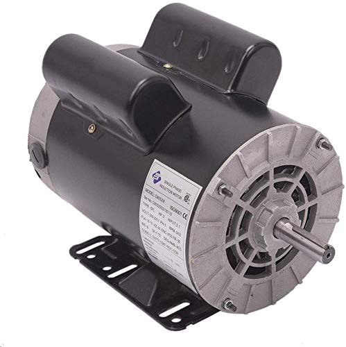 5 HP SPL 3450RPM Single Phase Electric Air Compressor Motor, 56 Frame 5/8' Shaft