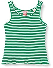 Scotch & Soda Rib Yarn Dyed Stripe Tank with Ruffle At The Hem Camiseta sin Mangas para Niñas