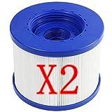 XIAOBUDIAN - Cartucho de filtro de rosca para spa hinchable sin tornillos de 60 mm, cartuchos filtrantes de repuesto para Aquaparx para Aqua Spa para...