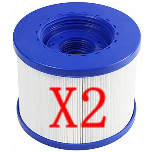 Xiaobudian für CosySpa Filter für Whirlpool, aufblasbar, Standard-Filterkartusche und Schrauben für Spa für Aquaparx für Ospazia für Nordic Spa für Wave Spa für Clever Spa (2 Stück)