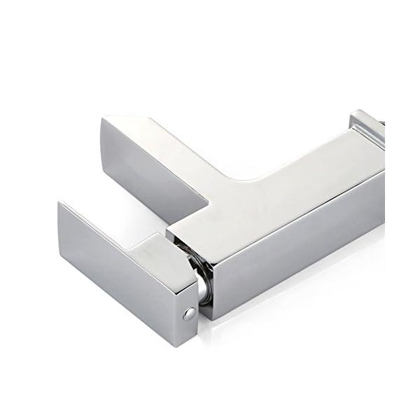 Homelody Grifo Lavabo Grifo de Baño Monomando Lavabo Grifo de cuenca Grifería baño Agua fría y caliente Cromado