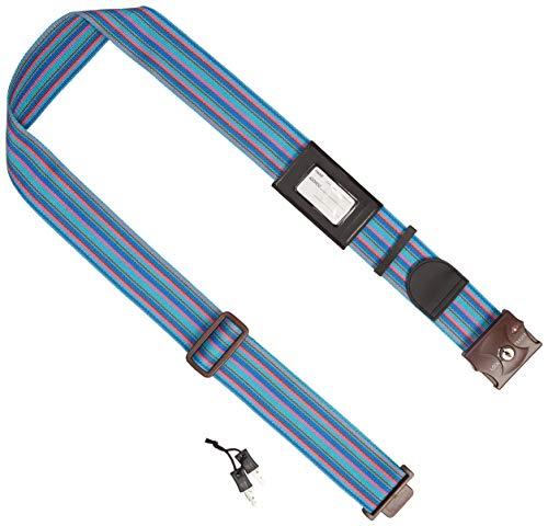 JTB商事 TSAロック付 スーツケースベルト ブルー ストライプ柄 509010005