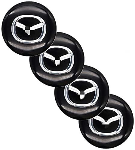 Mazda Atenza MX3 CX3 CX5 2 3 6323626 RX8 RX7 Protege Axela Speed 6 cubierta del centro de la rueda, adhesivo ensamblaje del neumático del automóvil, cubierta centro de la rueda con forma de automóvil