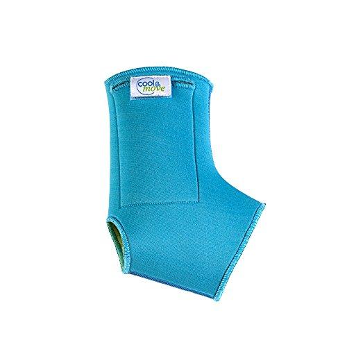 cool&move Sprunggelenk Bandage M, inkl. Kalt- / Warm-Kompressen, bei Sportverletzung und Gelenkschmerz