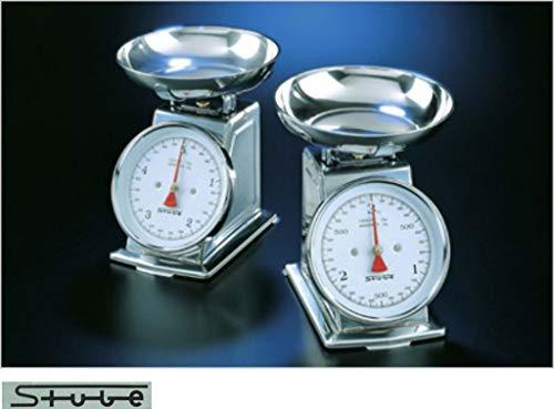 Stube 480/10–Küchenwaage analog, Edelstahl, 255x 249x 320mm, Edelstahl, Edelstahl)