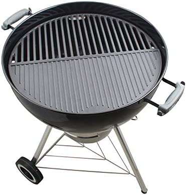 KAMaster 22 Half Moon Cast Iron Cooking Grate Grill Accessory Replaces for Weber Charcoal Grill product image