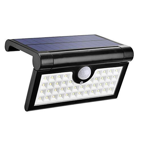 Yuanline Luz Solares Con Sensor Movimiento, Foco Plegable Con 42 Piezas Led Bombillas, Lampara Exterior De Pared, Batería De Polímero De Litio(2000mAh)