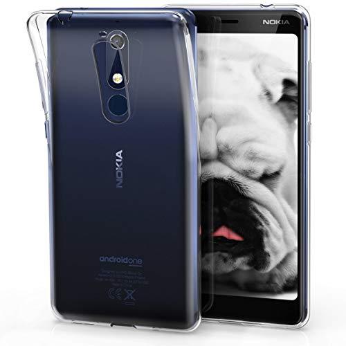 kwmobile Nokia 5.1 (2018) Cover - Custodia per Nokia 5.1 (2018) in Silicone TPU - Back Case Protezione Posteriore Trasparente
