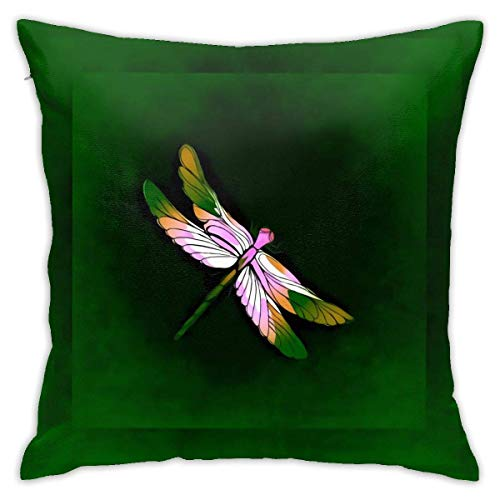 Lucky girlfriend Green Dragoy Pillowcase Square Soft Plush Home Sofa Bed Car Decoration Pillowcase Cushion Cover -Include Insert 18'X 18' Inches