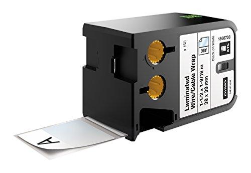 DYMO XTL Laminierte Kabeletiketten, Vinyl, selbstlaminierend  ( 21 mm x 39 mm)  - Schwarz auf Weiß