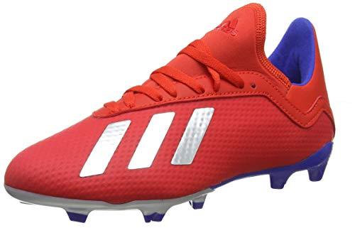 adidas X 18.3 FG J, Zapatillas de Fútbol Niños, Rojo (Active Red/Silver Met./Bold Blue Active Red/Silver Met./Bold Blue), 35 EU