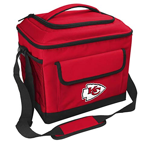 Rawlings NFL Soft-Sided Insulated Cooler, 24-Can Capacity, Kansas City Chiefs , Red