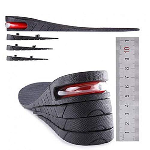 2-Capa 1.97inch / 5 Cm Elevación De La Plantilla Aumento De La Altura De La Plantilla del Zapato del Cojín del Amortiguador De Aire De Elevación De Zapatos para Hombres De Las Mujeres