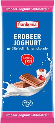 frankonia CHOCOLAT Erdbeer-Joghurt gefüllte Vollmilchschokolade laktosefrei & glutenfrei, 100 g