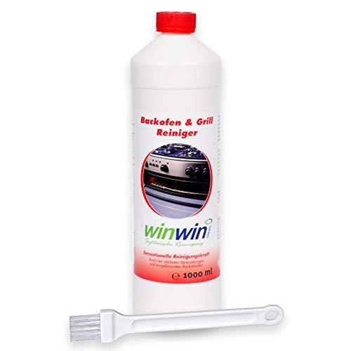 winwin clean Systemische Reinigung - Backofenreiniger 1000ml mit Spezial-Pinsel I JETZT NOCH MEHR REINIGUNGSPOWER!