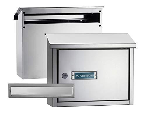Arregui V4087 Pack Bocacartas y Recogecartas de Acero Inoxidable, tamaño M (DIN A4)