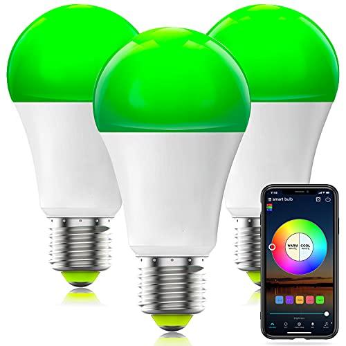 HaoDeng Smart WiFi Lampadina Alexa, dimmerabile Multicolor E27 A19 7W (equivalente 60w) Lampadina a LED, compatibile con Alexa Google Home Siri IFTTT (confezione da 3)