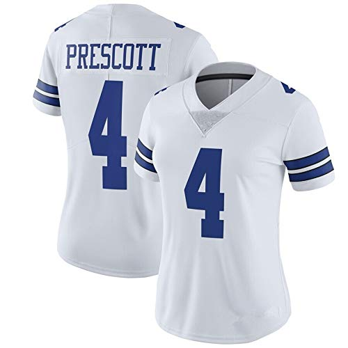 Li Long Frauen-Cowboys # 4 Prescott # 21 Elliott # 19# 55 (Color : 4, Size : XXL)