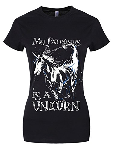 My Patronus is A Unicorn Damen T-Shirt schwarz