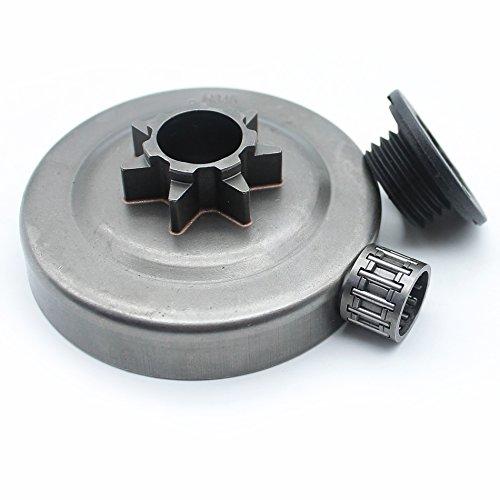 Embrague Drum Piñón rodamientos/Worm Gear para Husqvarna 340345350445445E 450450E motosierra .325