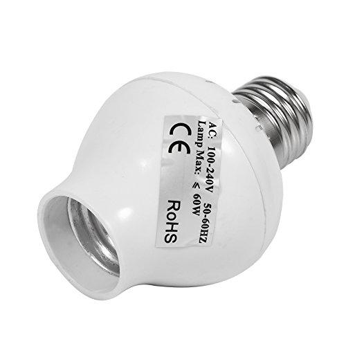 Alvinlite Soporte de lámpara de inducción de radiación de microondas Soporte de lámpara de Interruptor de inducción E27
