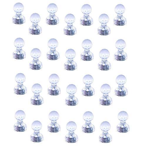 Magnetpro Whiteboard Magnete, 28 Stück Transparent N52 Extrem Staker Neodym Magnet 11 x 17mm Kunststoffmagnet Kegelmagnete Kühlschrank Magnete für Magnettafel, Whiteboard, Pinnwand