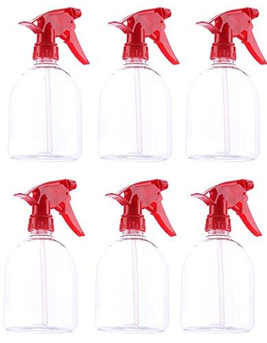 Flacone Spray di Plastica Rossa (6 Pezzi) - 500ml di Capacità, Grilletto Spray