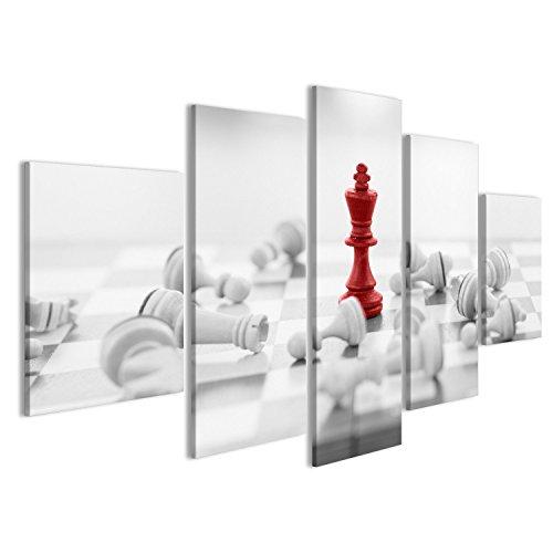 islandburner Quadro Moderno Scacchi Concetto di Business, la Guida e Il Successo Stampa su Tela - Quadri Moderni x poltrone Salotto Cucina mobili Ufficio casa ! GBV