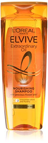 L Oréal Elvive Extraordinary Oil Shampoo for Dry Hair 400ml Pack of 6 (Packaging May Vary)