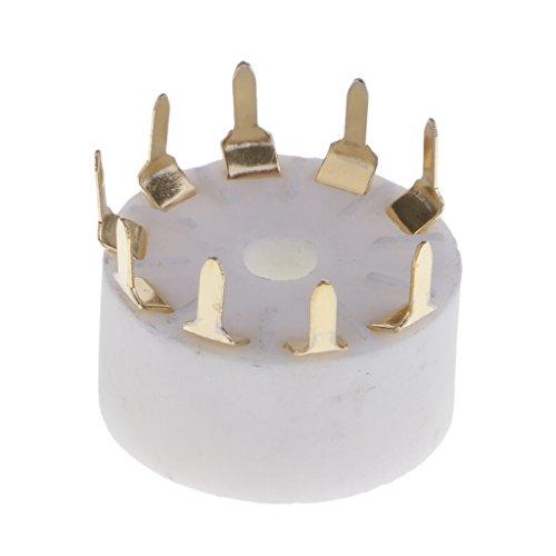 9 Pin Silber Keramik Röhrensockel PCB Sockel für Gitarrenverstärker, Radio Funkmeldung