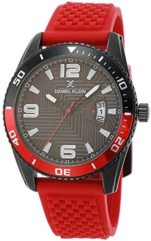 Daniel Klein Mens Wrist Watch DK12499 4 Silicone Strap 44mm Analog Men s Fashion Watches Japanese product image
