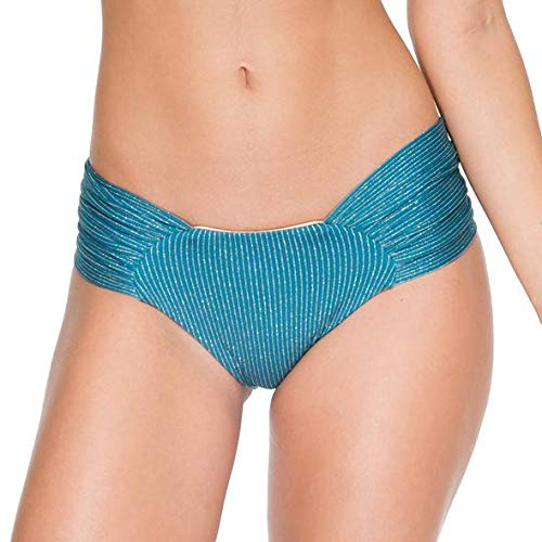 Luli Fama Women's Standard Havana Nights Scrunch Full Ruched Back Bikini Bottom, Miramar, LGE
