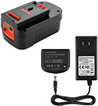 Powilling 5.0Ah 18V Lithium HPB18 Battery Replacement Compatible with Black and Decker HPB18 HPB18-OPE 244760-00 A1718 FS18FL FSB18 Firestorm Battery Black and Decker 18 Volt Battery Include Charger