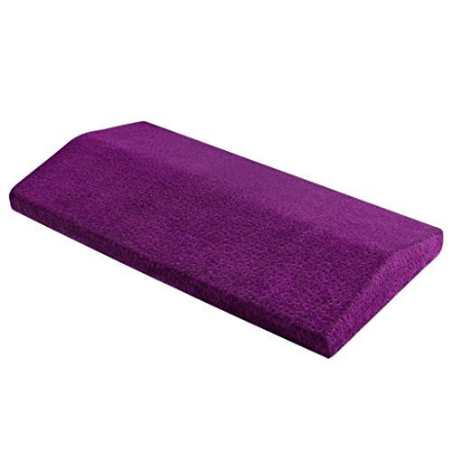 Fine Multifunctional Lumbar Support Cushion,Soft Memory Foam Sleeping Pillow for Hip,Sciatica and Joint Pain Relief,Orthopedic Side Sleeper Bed Pillow (Purple)