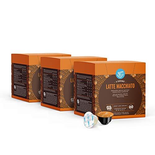 Amazon-Marke: Happy Belly Latte Macchiato Kaffeekapseln Geeignet für NESCAFÉ® Dolce Gusto®* Maschinen, 3x16 Kapseln (24 Portionen)