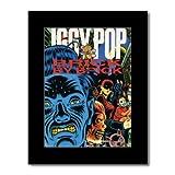 Music Ad World Iggy Pop Poster Brick Matt, 28,5 x 21 cm