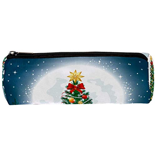 Beautiful Christmas Tree Pencil Bag Pen Case Stationary Case Pencil Pouch Desk Organizer Makeup Cosmetic Bag for School Office