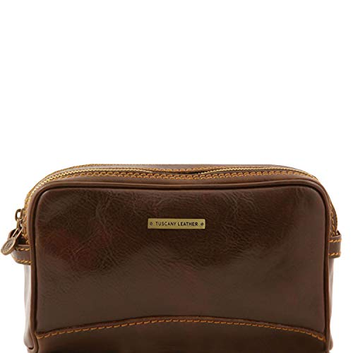 Tuscany Leather Igor Beauty case in pelle Testa di Moro