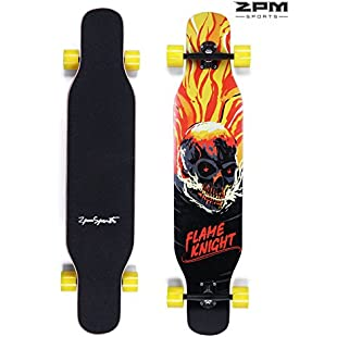 2pm Sports Longboard Complete Freestyle Skateboard with 9 ply Canadian Maple Wood
