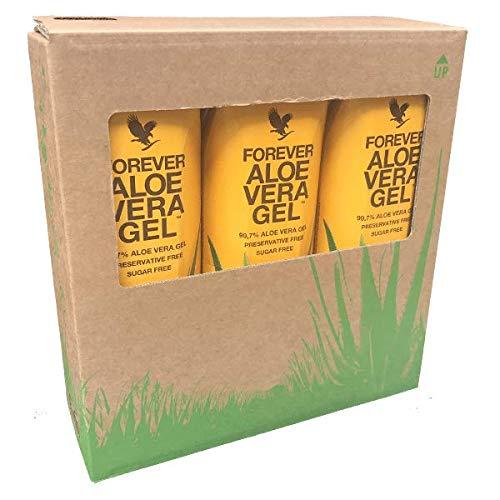 3 Pack Forever Living Der Drink aus reinem Aloe-Vera-Gel mit einem fruchtig-frischen Hauch von Zitrone - Power kompakt für den gesamten Körper