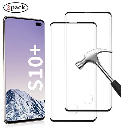 Anti-Öl Anti-Bläschen Transparenz Gehärtetem Glas Displayfolie Schutzfolie für Samsung Galaxy S10 Plus, [2 Stück] 9H Härte, Anti-Bläschen, 3D Vollständige Abdeckung, Anti-Fingerabdruck und Anti-Öl
