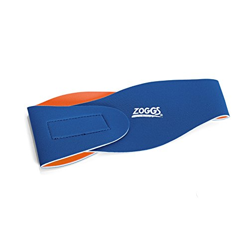 Zoggs Ohrenband für Kinder, Blau/Orange, S/M, Badezubehör für Kinder, 300615
