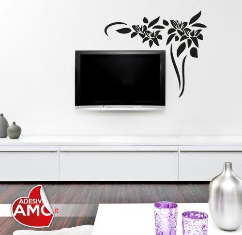 Adesiviamo Wall0000450 B L Sticker Mural en PVC 48 x 40 cm Rouge