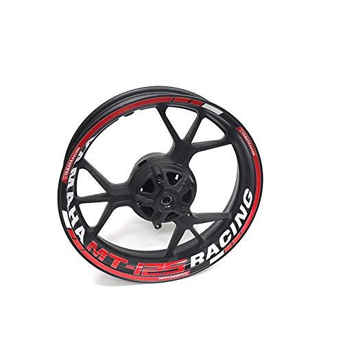 LDGF Para Y-amaha MT125 MT-125 moto impermeable adhesivo reflectante adhesivo para rueda de llanta cinta (color: 21)